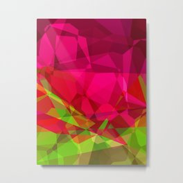 Rosas Moradas 1 Abstract Polygons 3 Metal Print