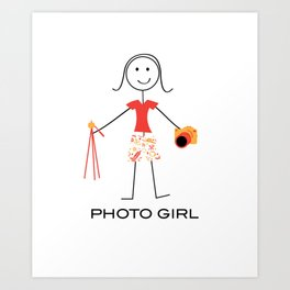 Funny Womens Photography Girl Art Print