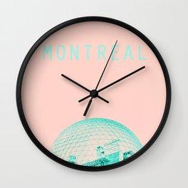Montreal Biosphere Pastel Wall Clock