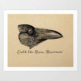 Nevermore - Edgar Allan Poe - Quoth the Raven Art Print