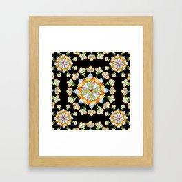 Jaipur Blossom Mandala Framed Art Print