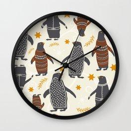 Mary's Penguins Wall Clock