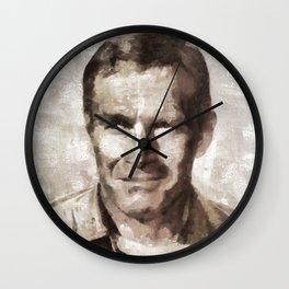 Charlton Heston, Hollywood Legend Wall Clock