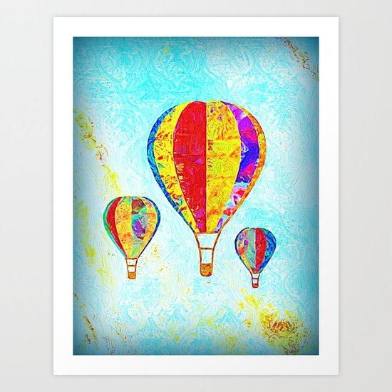 Beautiful Balloons Mosaic-Look Art Print