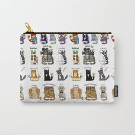Science cats. History of great discoveries. Schrödinger cat, Einstein. Physics, chemistry etc Carry-All Pouch