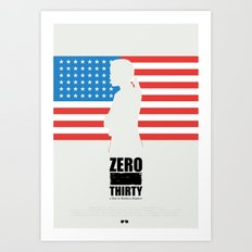 Zero Dark Thirty - minimal poster Art Print