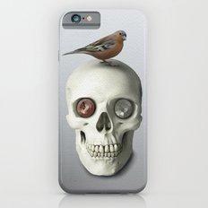 Skull  & bird, watercolor Slim Case iPhone 6s