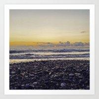silent beach Art Print