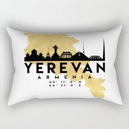 YEREVAN ARMENIA SILHOUETTE SKYLINE MAP ART Rectangular Pillow