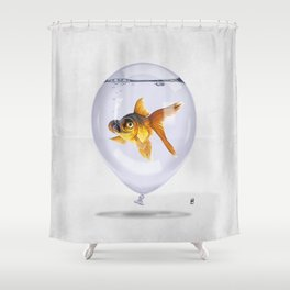 Inflated (Wordless) Shower Curtain