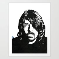dave grohl Art Prints featuring Dave Grohl (2) by Carolyn Campbell
