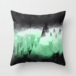 Modern Abstract Green Mountain Design Throw Pillow