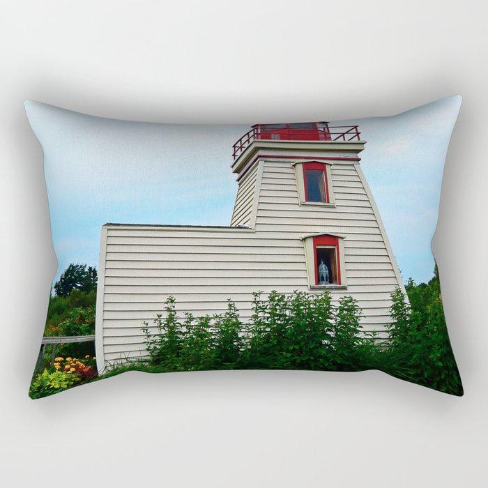 Lighthouse in the Garden Rectangular Pillow