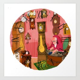 The clockmaker Art Print