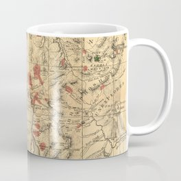 Vintage Map of Yellowstone National Park (1881) Coffee Mug