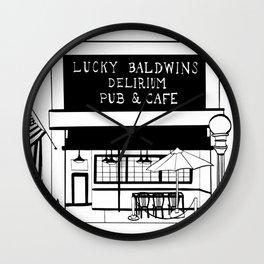 Lucky Baldwin's Delirium Pub & Cafe Wall Clock