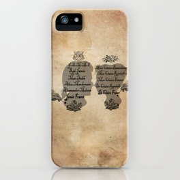 All the names of the Frasers iPhone Case