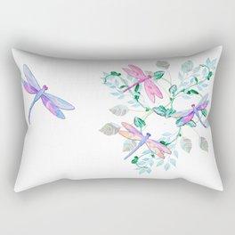 Dragonfly in Flight Rectangular Pillow