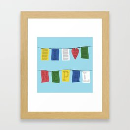 I heart Nepal Framed Art Print
