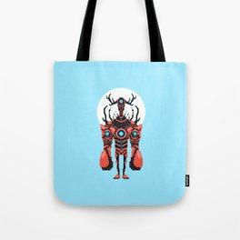Pixel Lobster Droid Tote Bag