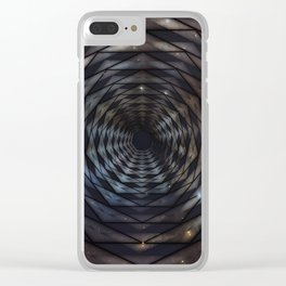 Heptagon space portal - high speed Clear iPhone Case