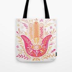 Hamsa Hand – Pink & Peach Palette Tote Bag
