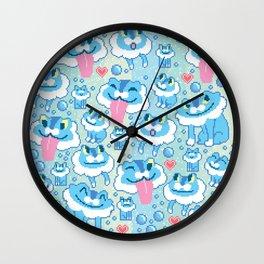 a buncha froakie Wall Clock