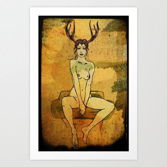 seated Art Print
