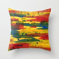 camo Throw Pillows featuring Camo by Dariush Nejad