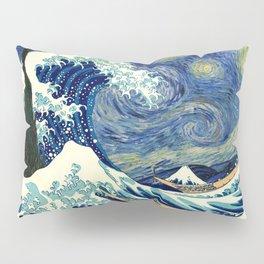 The Great Wave Off Kanagawa Starry Night Pillow Sham
