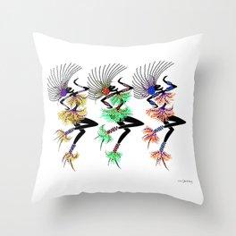 MARDI GRAS GIRLS 3 Throw Pillow