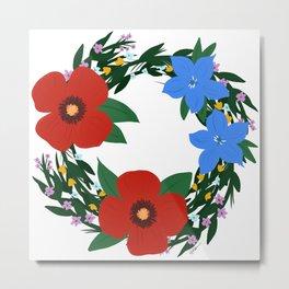 Spring Wreath Metal Print