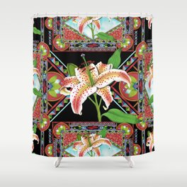 Gilding the Lily Pattern Shower Curtain
