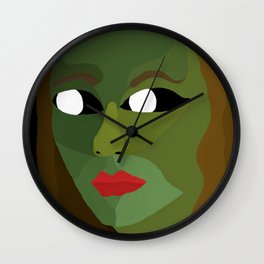 Olive Exists in the Dark Wall Clock