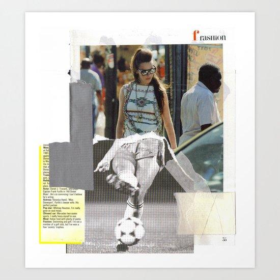 Football Fashion #17 Art Print