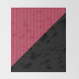Black , red , triangles Throw Blanket