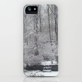 Maplewood - South Mountain Reservation - Snow iPhone Case