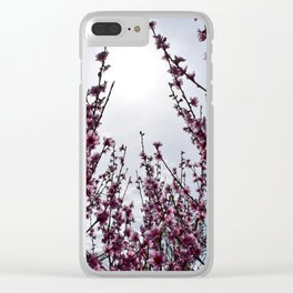 Overcast blossoms Clear iPhone Case