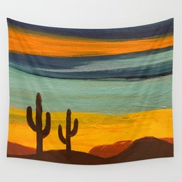 Saguaro Sunset Wall Tapestry