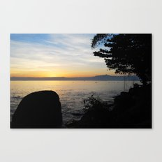Jungle Sunset Canvas Print