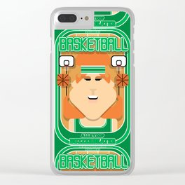Basketball Green - Alleyoop Buzzerbeater - Jacqui version Clear iPhone Case