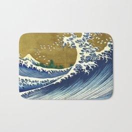 Katsushika Hokusai Big Wave Bath Mat