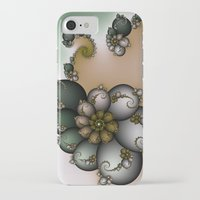 novelty iPhone & iPod Cases featuring Trinket Flower Fractal by Moody Muse