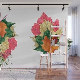 Autumn Leaf Stack Wall Mural
