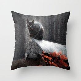 BLACK CAT II Throw Pillow