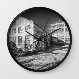 Abandoned Factory Falkland Wall Clock