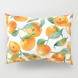Mandarins With Leaves Pillow Sham
