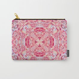 Boujee Boho Beauty Vintage Cross Print in Resonant Rose Carry-All Pouch