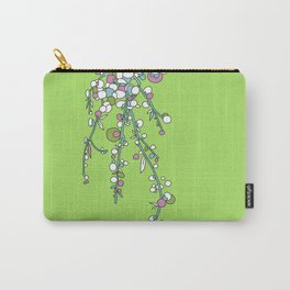 1950s / 1960s Retro Floral Flower Stem Pattern Carry-All Pouch