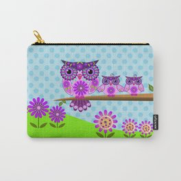 Spring owl mom and her baby Carry-All Pouch